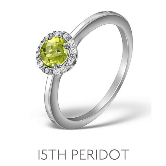 15th Anniversary Peridot - Wedding Anniversary Gemstone Jewellery
