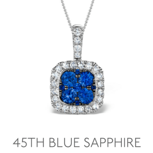 45th Anniversary Blue Sapphire - Wedding Anniversary Gemstone Jewellery