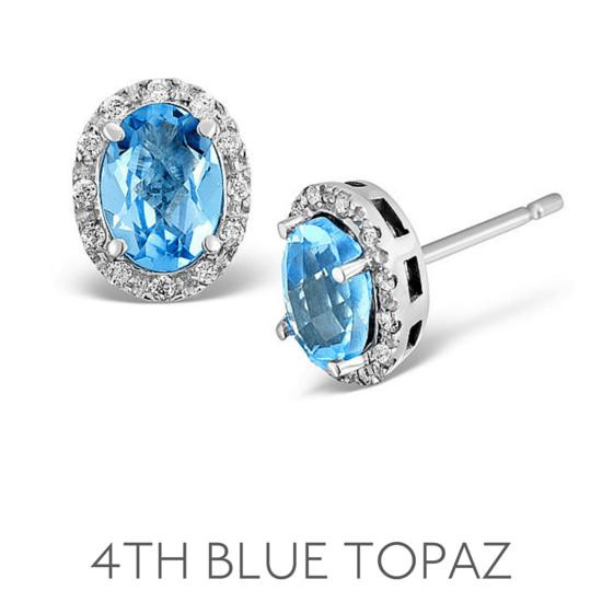 4th Anniversary Blue Topaz - Wedding Anniversary Gemstone Jewellery
