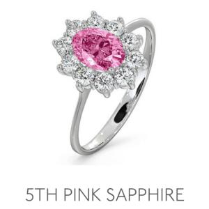 5th Anniversary Pink Sapphire – Wedding Anniversary Gemstone Jewellery