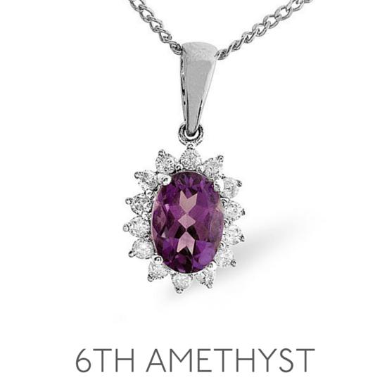 6th Anniversary Amethyst - Wedding Anniversary Gemstone Jewellery