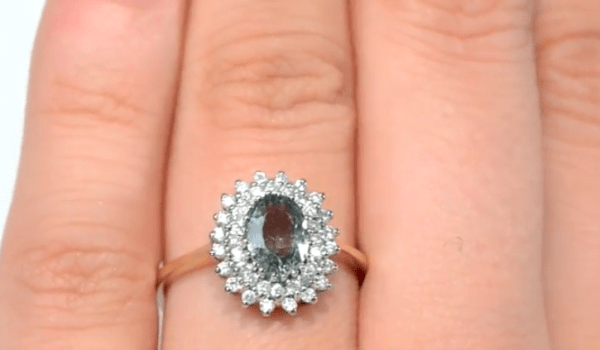 sapphire colours - A4341 Green Sapphire Diamond Ring In 9K Gold YouTube
