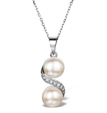 best necklaces pearl white topaz pendant