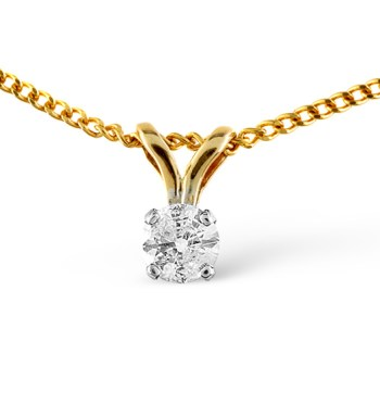 best necklaces solitaire diamond yellow gold