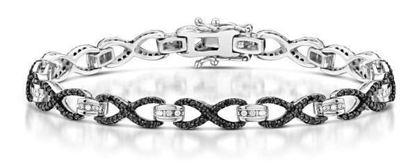 Halloween jewellery - black diamond bracelet