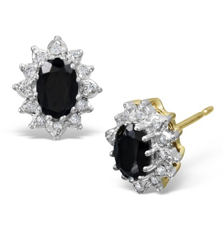 Best earrings - blue sapphire and dimaond studs