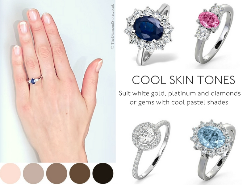 Best Engagement Ring for Your Hand - cool skin tones