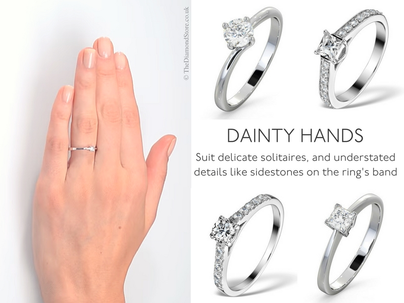 Best Engagement Ring for Your Hand - dainty hands