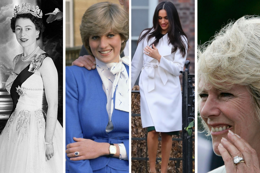 The 9 Engagement Rings of the British Royal Family