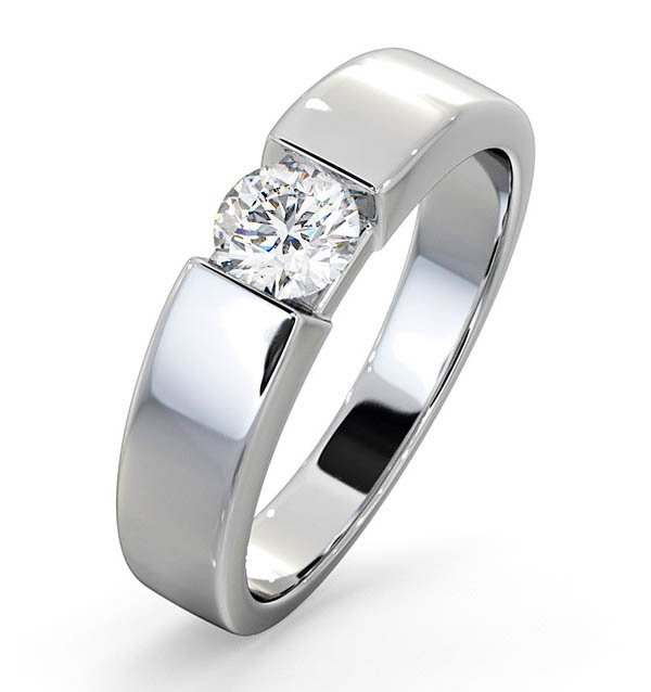 Tension set solitaire rings