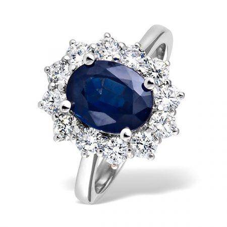 Gemstone With Diamond Cluster
