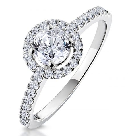 Ella Solitaire Lab Created Diamond Ring