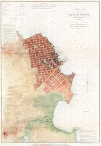 1853 map of the City of San Francisco and its Vicinity by the U. S. Coast Survey