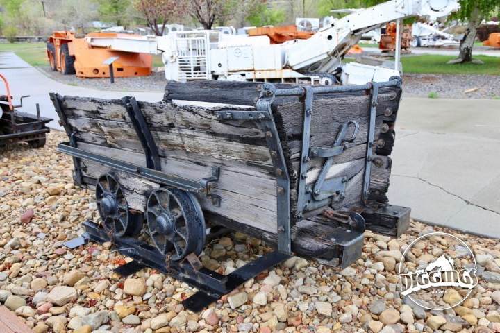 Wooden Rail Cart at the Western Mining & Railway Museum Outdoor Mining Display