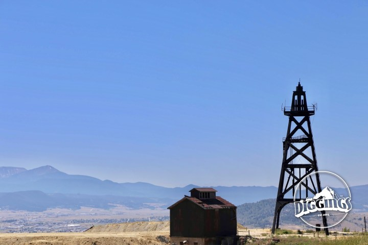 Headframe and hoist house visible from the Granite Mountain Memorial