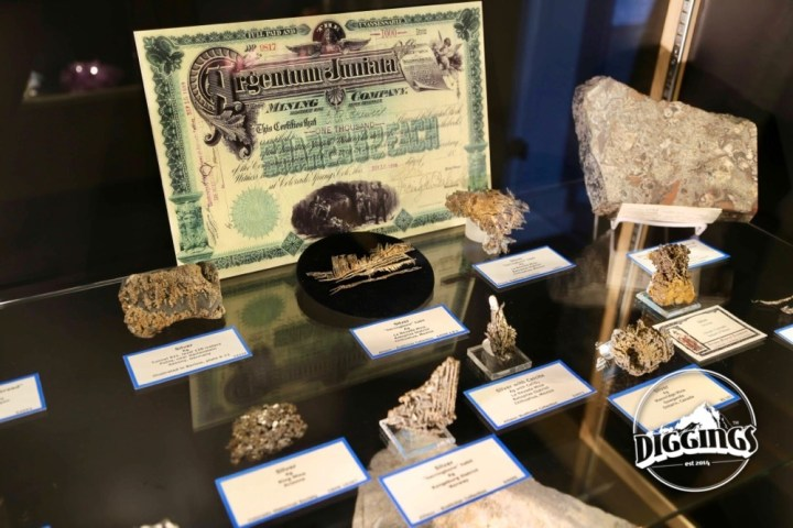 Silver specimens at the Colorado School of Mines Geology Museum