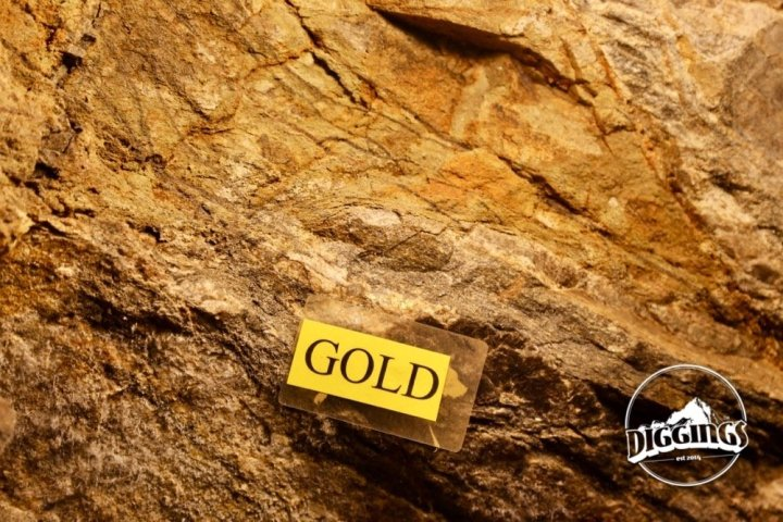 Gold vein at the Argo Gold Mine & Mill, Idaho Springs, Colorado