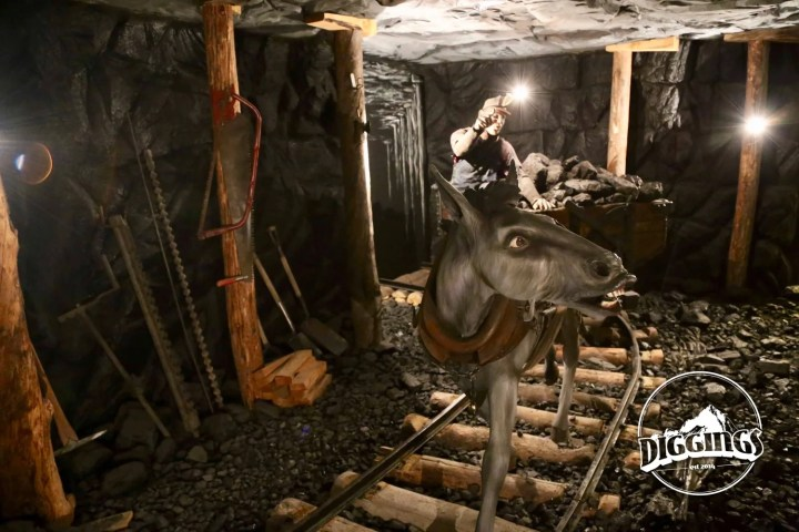 Coal Miner & Mule at the National Mining Hall of Fame & Museum Display