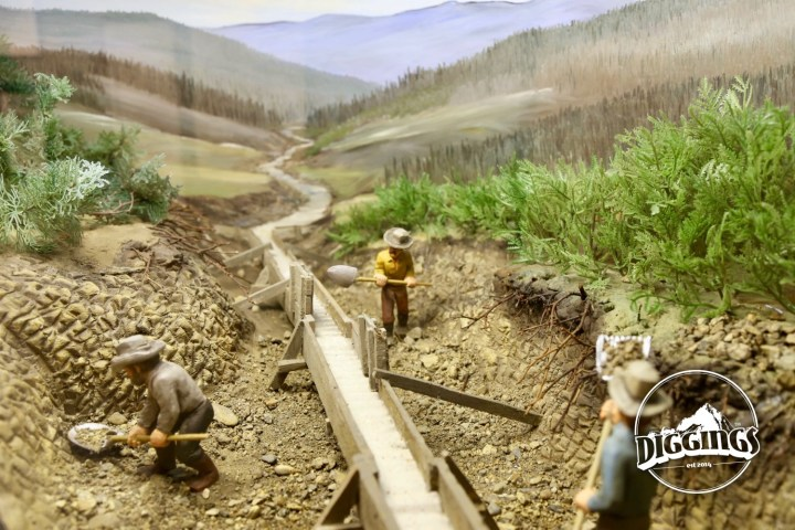 Flume diorama at the National Mining Hall of Fame & Museum