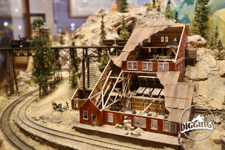 Mill diorama at the National Mining Hall of Fame & Museum