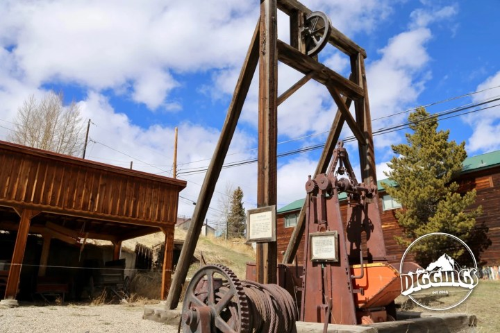 Headframe at the Leadville Heritage Museum and Gallery