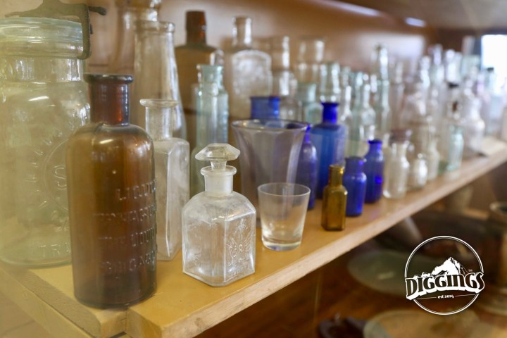 Assorted bottles collected from Sumpter at the Sumpter Museum And Public Library