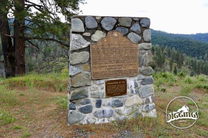 La Grange Mine California Registered Historical Landmark