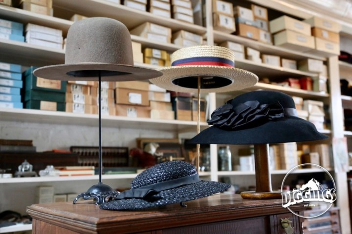 Hats on display at the Litsch General Store