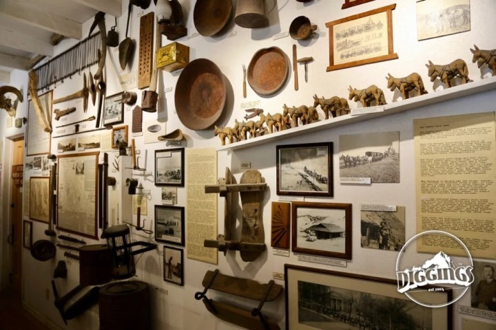 Mining Equipment on display at The Borax Museum