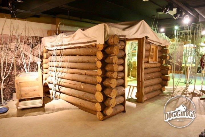 Gold miner's cabin at the Klondike Gold Rush National Historical Park