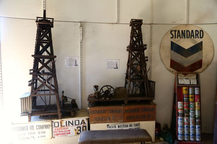 These mini Oil Derricks were also built by the Hathaway boys.