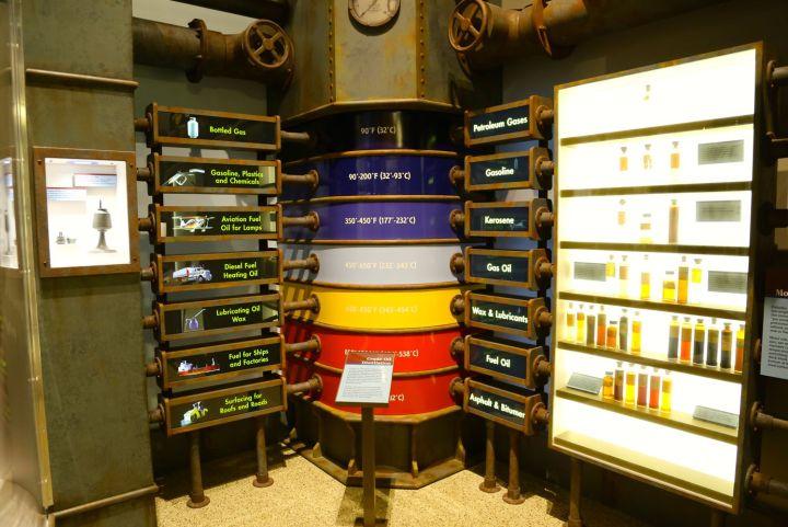 Crude Oil Distillation display