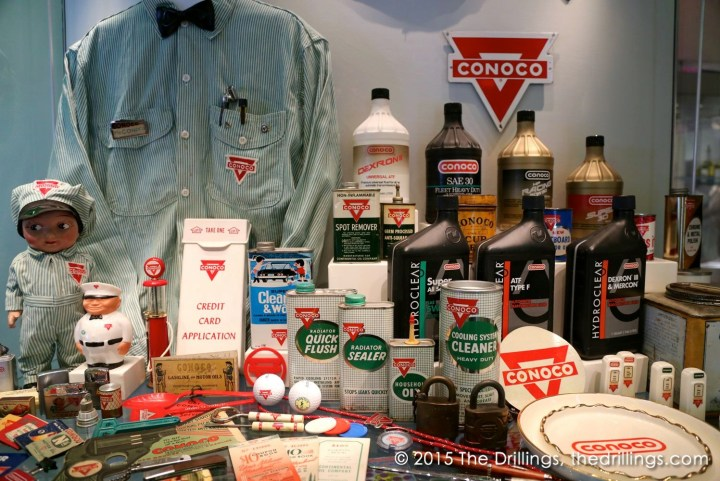 Conoco products and promotional items.