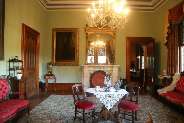 Inside the dining room of the Queen Anne Cottage.