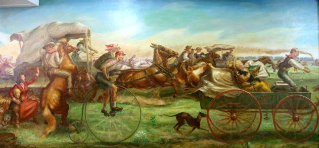 John Steuart Curry Rush for the Oklahoma Land—1894 Oil on canvas, 1939