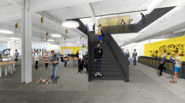 The GIX building will include a maker space, design studios and spaces for collaboration and presentations | Renderings courtesy of Bora Architects