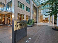 Bellevue Civica Office Commons Hines REIT AEW Capital Management LMN Architects Wells Fargo MetLife Microsoft Blackstone Seattle Redmond