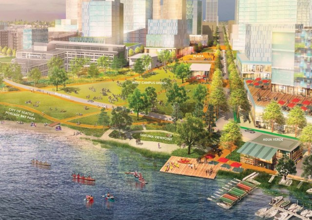 Seattle, University of Washington, 2018 Campus Master Plan, CMP 10-year Conceptual Plan, Portage Bay Park, West Campus Green
