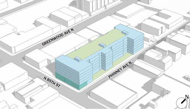 Greenwood Town Center, Greenwood-Phinney Ridge Residential Urban Village, Seattle, Brumbaugh & Associates Landscaping Architecture, Runberg Architecture Group, Shea Properties, Ballard, Greenwood, Northwest Design Review Board 320 N 85th St.