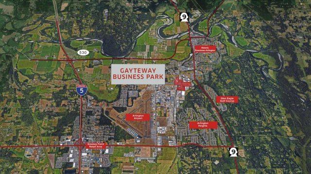 GS Venture Partners, Bellevue, Industrial Building, City of Arlington, Northwest Hardwoods, Weyerhaeuser log mill, Gayteway Business Park, Burlington Northern Railroad