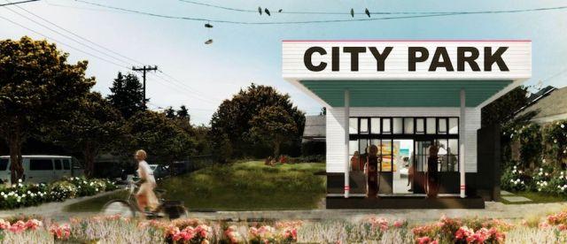 Seattle, SuttonBerresCuller, goCstudio, Georgetown, Mini Mart City Park, arts and community center, densification, brownfield site