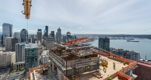 PCL Construction Services, Arrivé mixed-use tower, Cinerama, Belltown, Weber Thompson, The Molasky Group, Binjiang Tower Corp,