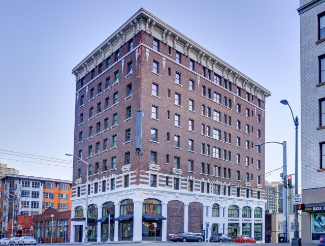 GEM Real Estate, Seattle, Kimpton Palladian Hotel, Calhoun Hotel, Denny Regrade, National Register of Historic Places, Pike Place Market, Space Needle