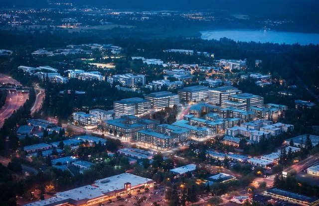 Seattle, Capstone Partners, Imagine Housing, Esterra Park, master-plan, Facebook, Microsoft, Redmond Town Center, Blackstone Group