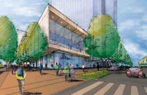 Bellevue, Seneca Development, Amazon, NBBJ, Bellevue Corporate Plaza, King County, Equity Commonwealth, Bellevue Transit Center