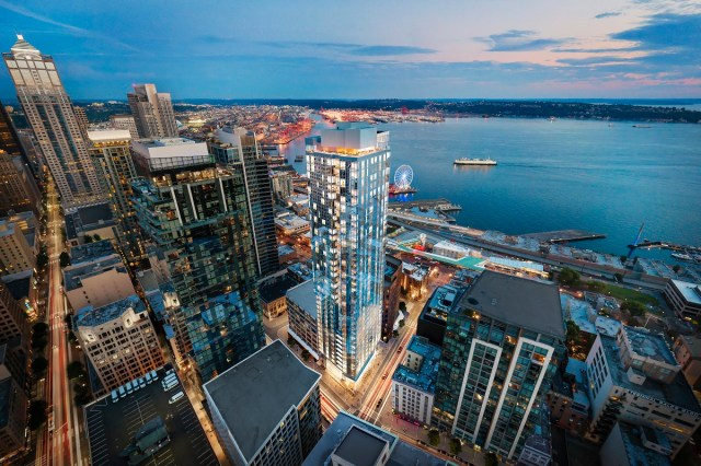 Seattle, Pike Place Market, Puget Sound, Daniels Create World, Hewitt Architects, Susan Marinello Interiors, Envoy Technologies, SeaTac Inernational Airport
