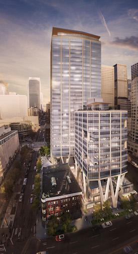 Qualtrics Tower Seattle Skanska 2+U Seattle Puget Sound commercial real estate leasing office technology growing market