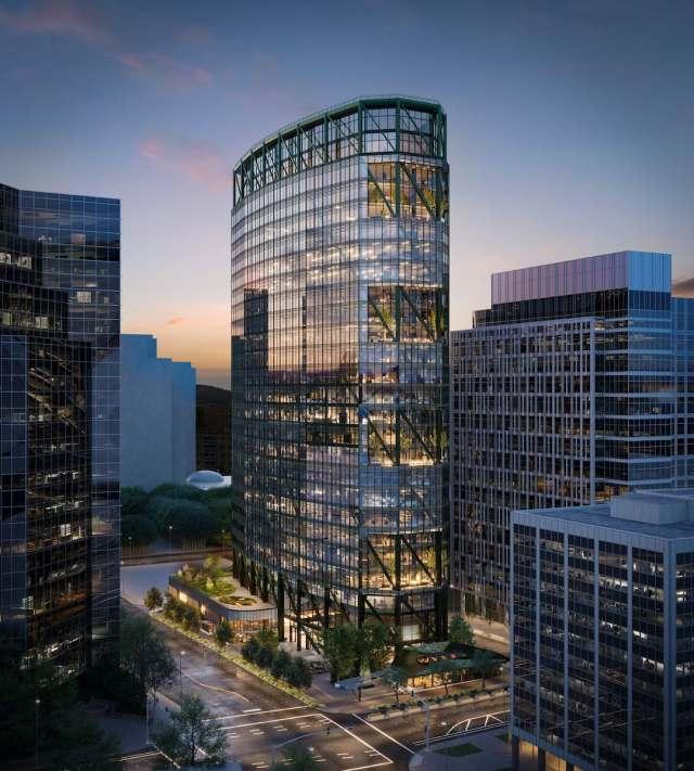 Skanska, Seattle, The Eight, Bellevue Pickard Chilton Architects Adamson Associates Graham Baba Architects Hargreaves Magnussen Klemencic Associates