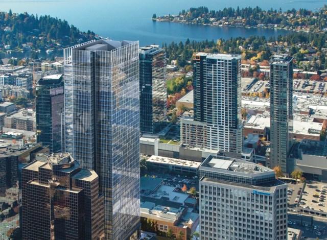 Amazon, Vulcan Real Estate, 555 108th, Bellevue, Redmond Town Center, Microsoft, NKF
