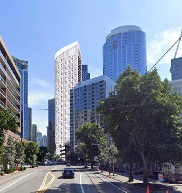 Silverstein Properties, Handel Architects, Seattle, Butcher's Table, Shake Shack, 801 Blanchard